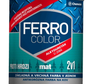 "Краска ""Chemolak FERRO COLOR"" матовая чорная 0,75л.  (RAL 9005)"
