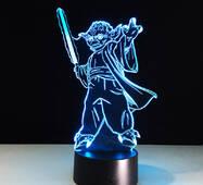 """3D светильник """"Йода"""""""