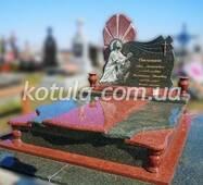 Подвійний гранітний пам'ятник №12, купити в Луцьку