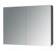 Шкафчик зеркальный Alano 80, коричневый дуб