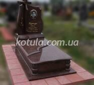 Одинарний пам'ятник з граніту №101, купити в Луцьку у роздріб