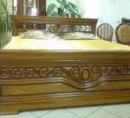 """Кровать спальни """"Эдельвейс"""" из массива дерева"""