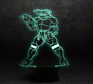 """3D светильник """"Черепашка ниндзя 2"""""""