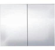 Шкафчик зеркальный Alano, антрацит