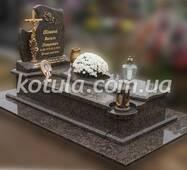 Одинарний пам'ятник з граніту №106, купить в Луцьку
