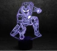 """3D светильник """"Железный человек 4"""""""