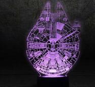 """3D светильник """"Сокол тысячелетия"""""""