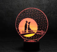 """3D светильник """"Мост влюбленных"""""""