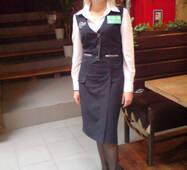 Жилет із спідницею і блузою для адміністратора ресторану