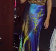 Вечірня сукня з натурального шовку на замовлення