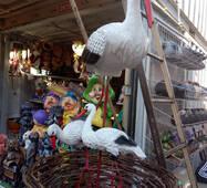 """Декоративні фігури для вашого будинку"""" сім'я лелек гніздо"""""""