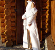 Пальто і сукня з білого букле
