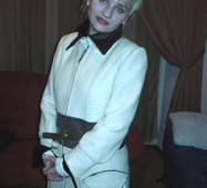 Пальто з білого кашеміру з хутром під замовлення