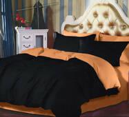 Постельное белье комплект Двухсторонний постельное белье Черный + Медовый