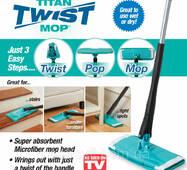 Швабра для прибирання з віджиманням Titan Twister