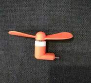 Оранжевый Mini-USB вентилятор от телефона