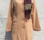 Пальто женское бежевое Бежевый, L