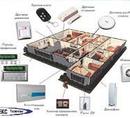 Монтаж  системы охранной сигнализации коттедж
