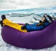 Надувний лежак Lamzac, Ламзак фіолетовий