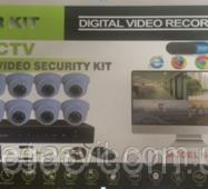 Комплект відеоспостереження на 8 камер DVR KIT 6508 8ch (Реєстратор  Камери)