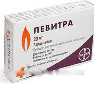 Левитра оригінал ® Bayer ( Варденафил), Levitra 4 пігулки в упаковці препарат для підвищення потенції