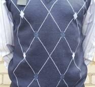 Жилетка мужская синий, XL