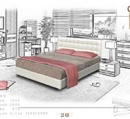 """Ліжко """"Сіті""""з каркасним матрацом"""
