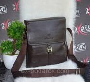 Стильна коричнева чоловіча сумка.