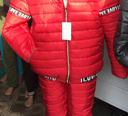 Лижний жіночий костюм оптом 48-54 червоний