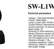 Світловий прилад SW - L 1W moving head