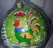 """Новогодние шары символ года """" петух"""" на выбор"""