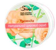 """Натуральний цукровий скраб """"Троянда"""" (для нормальної, комбінованої шкіри), 200 мл"""