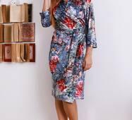 Жіноче ділове велюрове плаття  305