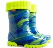 Гумові чоботи DEMAR TWISTER LUX FLUO d (Жовто-блакитна мозаїка), 28-35, купити у Львові