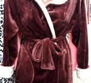 Женский махровый халат велсофт