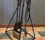 """Кованый каминный набор """"Пирамида"""""""