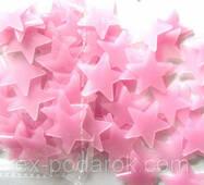 Набір рожевих светонакопительных зірок.