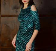 Женское велюровое платье 188