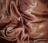 Штора монорей шоколадного кольору з блиском