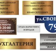 Фасадні таблички на будинок, номери будинків і вулиць купити в Україні