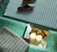 Банный коврик в полоску с антибактериальной защитой