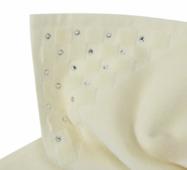 Банний килимок з кристалами SWAROVSKI з антибактеріальним захистом Кремовий