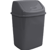 ВП-10-сат - Пластиковое ведро для мусора с поворотной крышкой, 10 л Горизонт ВП-10-сат