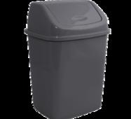 ВП-18-сат - Пластиковое ведро для мусора с поворотной крышкой, 18 л. Алеана ВП-18-сат