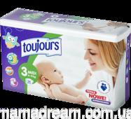 Підгузники Toujours 3 (4-9 кг) 56 шт