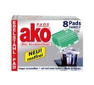 Губка (мочалка) Ako Pads Der Krustenloser для чистки кастрюль, 8 шт. Німеччина