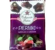 Пряники шоколадные с фруктовой начинкой Cukiernia Roza, 200 г, Польша