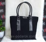 Элитная женская сумка из натуральной замши и кожи.