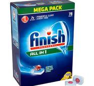 Таблетки для посудомоечных машин Calgonit Finish all in 1, 78 шт СУПЕРЦЕНА!
