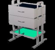 Столик манипуляционный с 2 ящиками СМ-3-2